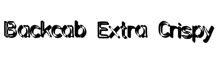 Backcab Extra Crispy  免费字体下载
