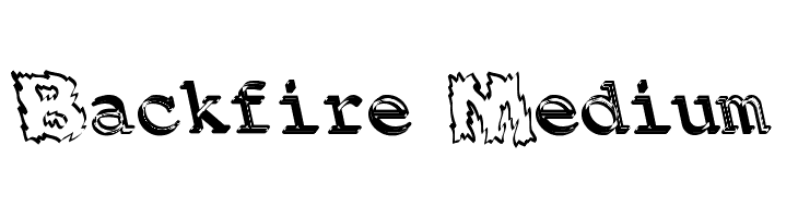 Backfire Medium  Free Fonts Download