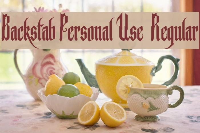 Backstab Personal Use  Regular Fonte examples