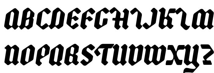 Backyard Black PERSONAL Italic Fonte MAIÚSCULAS