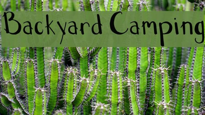 Backyard Camping Font examples