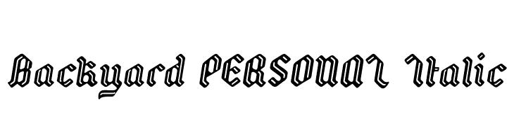 Backyard PERSONAL Italic  Скачать бесплатные шрифты