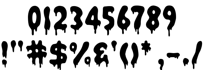Bacon Font OTHER CHARS