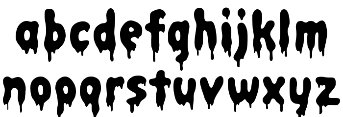 Bacon Font LOWERCASE
