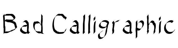 Bad Calligraphic  Descarca Fonturi Gratis