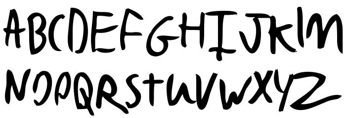 Bad Handwriting 7.2 Font UPPERCASE