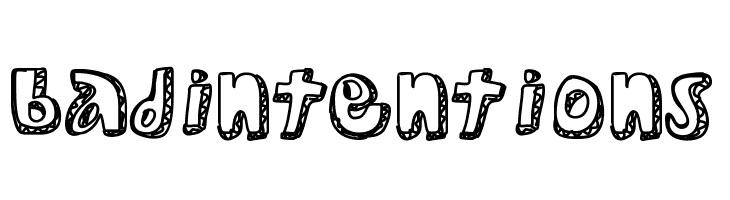 BadIntentions  Free Fonts Download