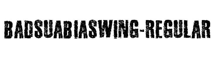 BadSuabiaSwing-Regular  Free Fonts Download