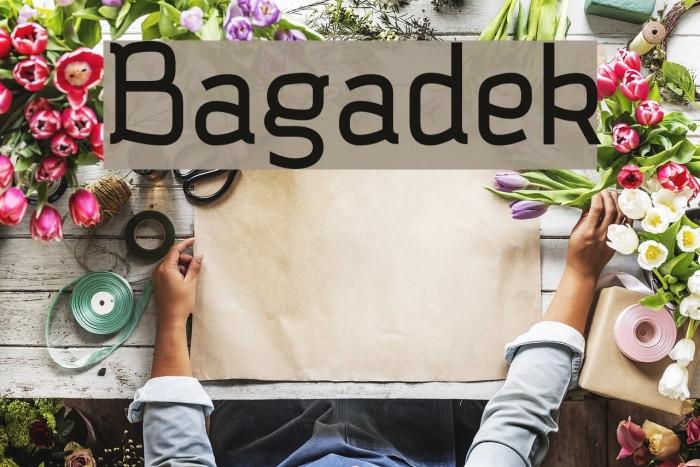 Bagadek Font examples