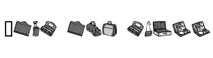 Bags and stuff  Free Fonts Download
