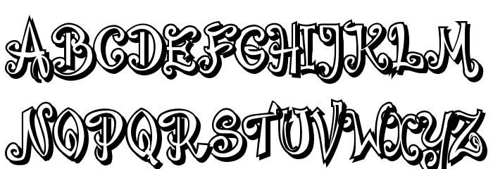 Bajareczka Shadow Font UPPERCASE