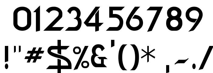 Bajoran Regular Font OTHER CHARS