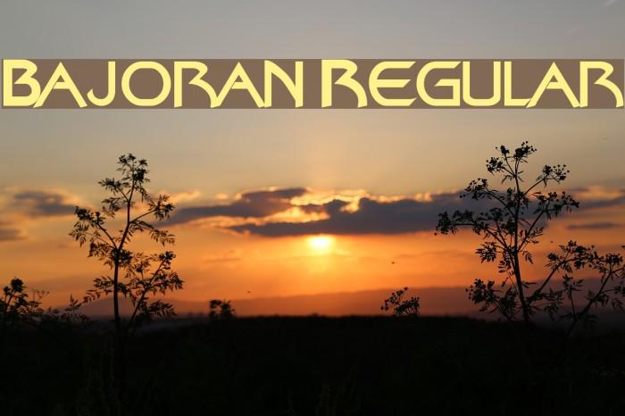 Bajoran Regular Font examples