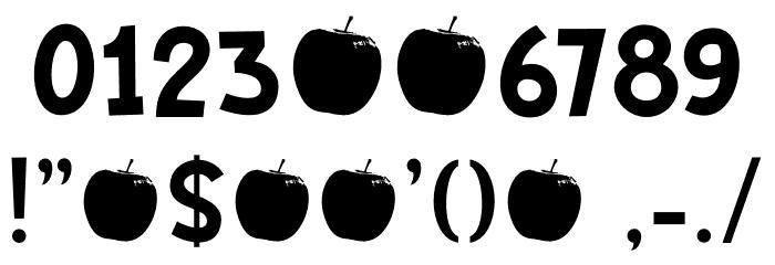 Bakeapple DEMO Regular フォント その他の文字