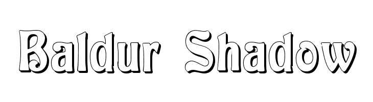 Baldur Shadow  baixar fontes gratis