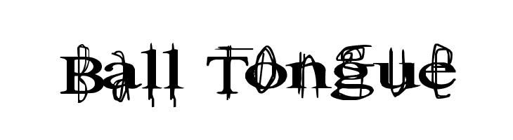 Ball Tongue  Скачать бесплатные шрифты