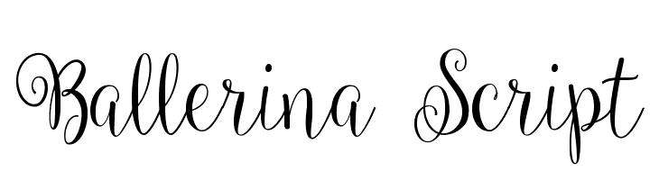 Ballerina Script  フリーフォントのダウンロード
