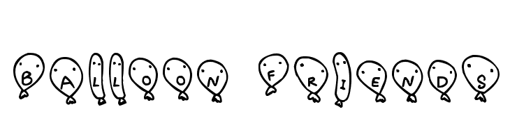 Balloon Friends  Free Fonts Download