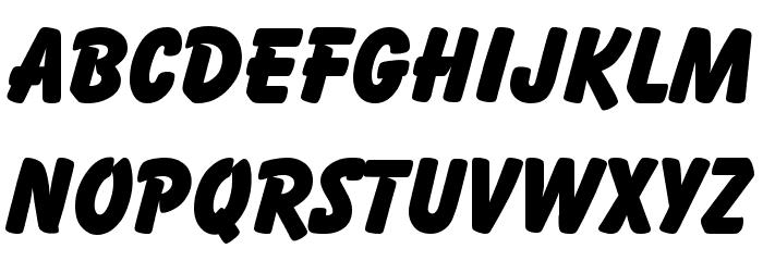Balloon Font UPPERCASE
