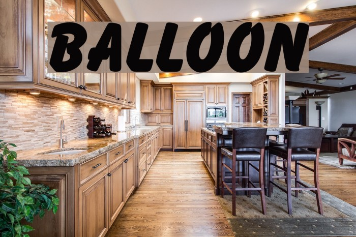 Balloon Font examples