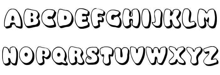 Balloony Font UPPERCASE