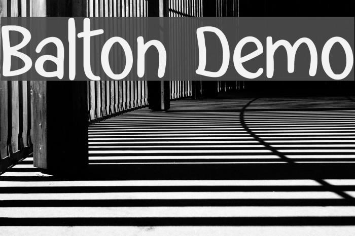 Balton Demo Font examples
