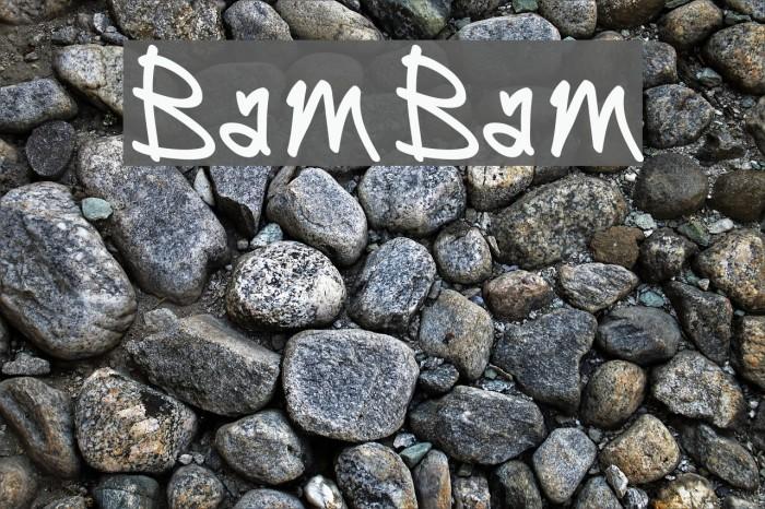 BamBam फ़ॉन्ट examples