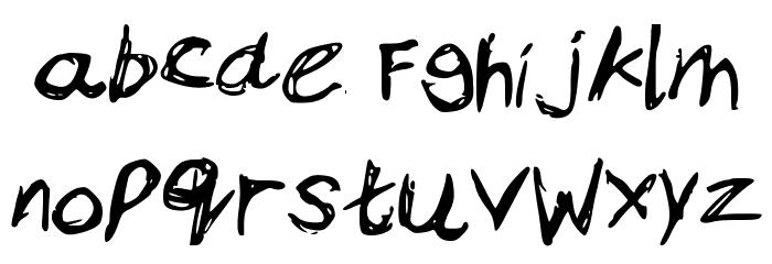 Bam_s_Notes Schriftart Kleinbuchstaben