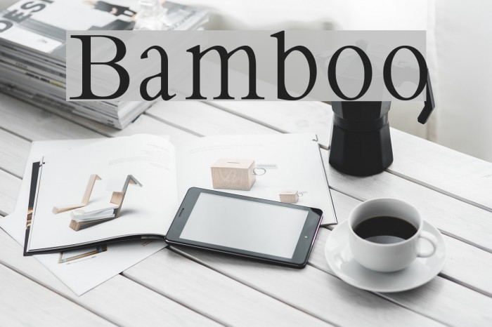 Bamboo Fonte examples