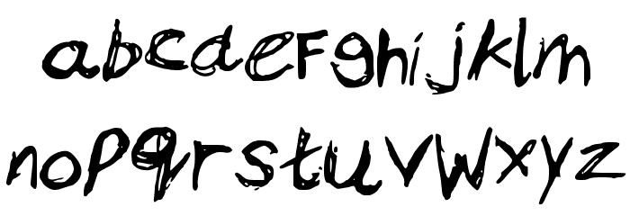 BamsAnger Schriftart Kleinbuchstaben