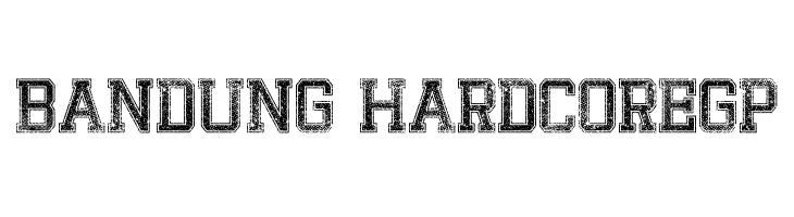 Bandung HardcoreGP  Скачать бесплатные шрифты