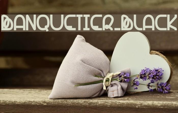 Banquetier-Black Font examples