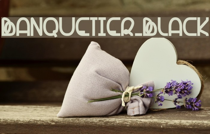 Banquetier-Black Polices examples