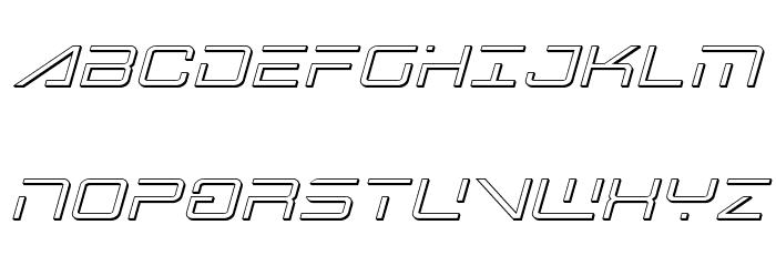 Banshee Pilot 3D Italic フォント 大文字