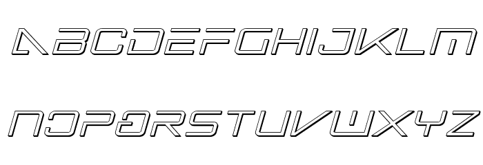 Banshee Pilot 3D Italic フォント 小文字