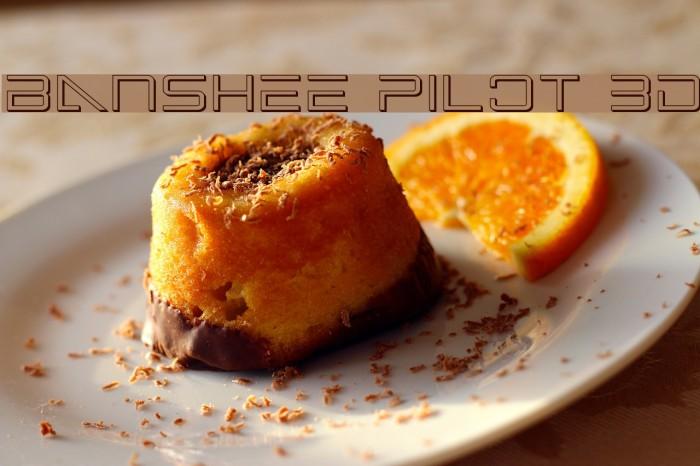 Banshee Pilot 3D फ़ॉन्ट examples