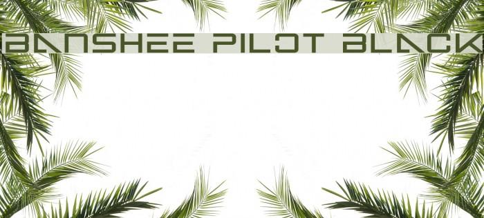 Banshee Pilot Black फ़ॉन्ट examples