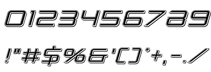 Banshee Pilot Punch Italic Font OTHER CHARS