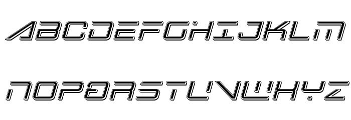Banshee Pilot Punch Italic Font UPPERCASE