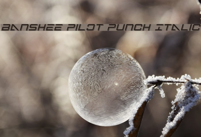 Banshee Pilot Punch Italic Font examples