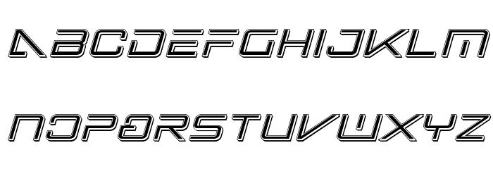 Banshee Pilot Punch Italic Font LOWERCASE