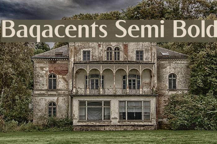 Baqacents Semi Bold Font examples