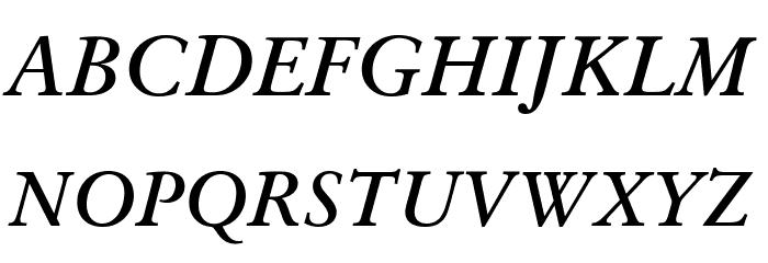 Baramond Bold Italic Font UPPERCASE