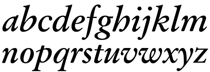 Baramond Bold Italic Font LOWERCASE