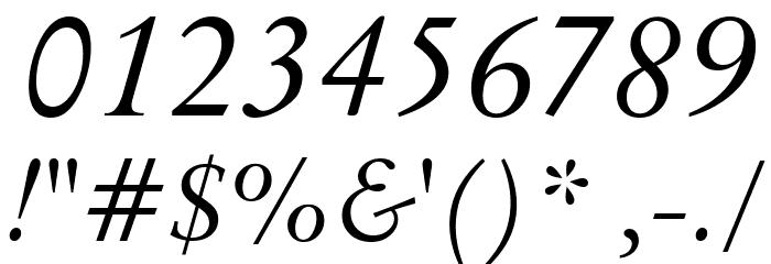 Baramond Italic Font OTHER CHARS