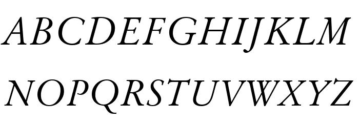 Baramond Italic Font UPPERCASE
