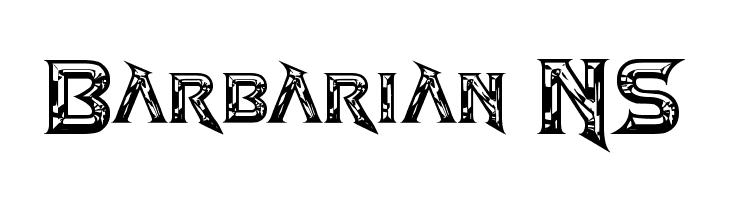 Barbarian NS  Fuentes Gratis Descargar
