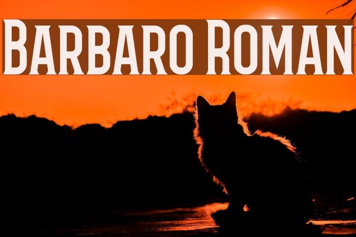 Barbaro Roman Caratteri examples