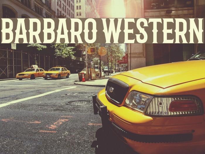 Barbaro Western Fonte examples