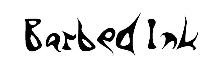Barbed Ink  フリーフォントのダウンロード